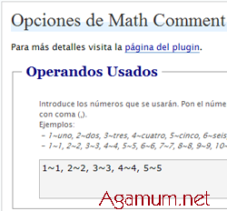 Math Comment Spam Protection en español