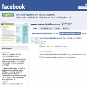 Página  en Facebook  de www.samuelaguilera.com