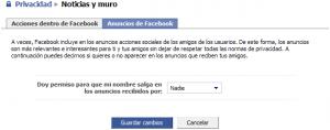 Privacidad de anuncios en Facebook