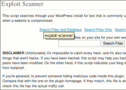 Imagen de WordPress Exploit Scanner