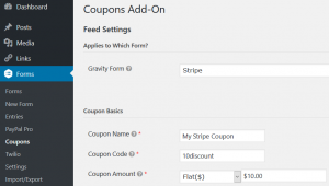 Gravity Forms Coupon Example