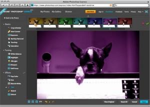 Captura de Photoshop Express