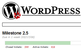 WordPress 2.5 track